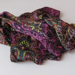 Echo New Pink Multi-colored Neck Scarf One Size
